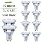 10 Pack Philips CorePro LED GU10 3.5W 2700K Warm Wit
