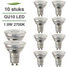 10 Pack LED GU10 Lybardo 1.9W 50 graden 2700K Warm Wit