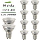 10 Pack LED GU10 Lybardo 5.2W 50 graden 2700K Warm Wit Dimbaar