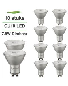 10 Pack LED GU10 Lybardo ITEC dimbaar 7W 500 lm 2700K Warm Wit