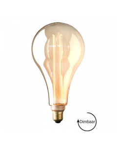 E27 LED Vintage Kooldraad lamp Toscane Gold 3.5W 1800K Extra Warm Dimbaar
