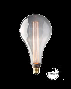 E27 LED Vintage Kooldraad lamp Toscane Smoke 3.5W 2000K Extra Warm Dimbaar