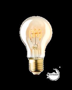 E27 LED lamp spiraal Lybardo Gold 2.8W 2000K Extra Warm Dimbaar
