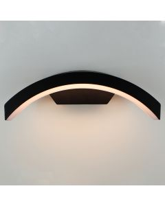 Lybardo buitenlamp / wandlamp Myra Zwart - IP54 - Geïntegreerd LED 12W 3000K Modern Warm Wit