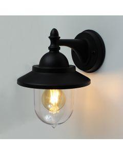 Lybardo buitenlamp / wandlamp lantaarn Digne Zwart - IP54 - geschikt voor E27 lamp