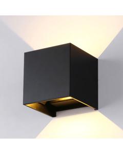Buitenarmatuur Cube 2 x 3 Watt 3000K lichtspreiding instelbaar IP54