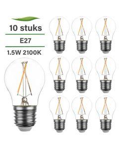 10 Pack E27 LED Lamp Filament Lybardo 1.5W 2100K Extra Warm