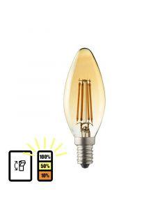 E14 LED kaars lamp Lybardo 3-stap Dimbaar Filament 4W 2500K Warm Wit