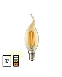 E14 LED kaars lamp vlam Lybardo 3-stap Dimbaar Filament 4W 2500K Warm Wit
