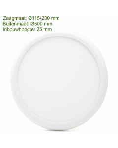 LED downlight rainbow 3 color 18/25W