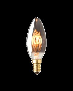E14 LED kaars lamp spiraal Lybardo Smoke 2.5W 2100K Extra Warm 40 lm