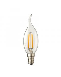 E14 LED kaars lamp vlam Lybardo 0.6W 2100K Extra Warm