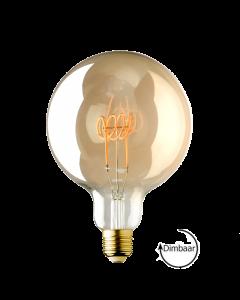 E27 LED lamp Vintage Globe 125 spiraal Lybardo Gold 4W 2000K Extra Warm Dimbaar