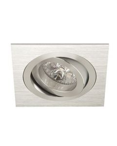 Inbouwspot LED - Inbouw armatuur Vienna - Kantelbaar - Vierkant geborsteld aluminium