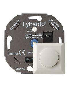 Lybardo ITEC 3-175W LED Dimmer - Fase Afsnijding - Universeel - Compleet met afdekraam