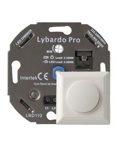 Lybardo ITEC 3-200W Pro LED Dimmer - Fase afsnijding - Universeel - Elektronische zekering - Compleet met afdekraam
