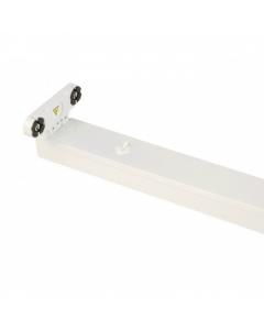 LED TL Armatuur IP20 dubbel 60 cm wit, opbouw