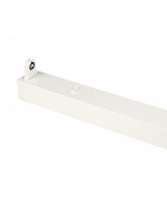 LED TL Armatuur IP20 enkel 120 cm wit, opbouw