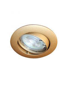 Inbouwspot LED - Inbouw armatuur Lucca - Kantelbaar - Rond mat goud