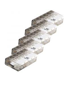 Connector compact 5 aansluitingen set van 5 stuks