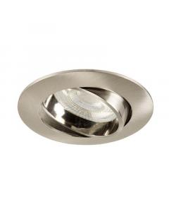 Inbouwspot LED - Inbouw armatuur Como - Kantelbaar - Rond nikkel geborsteld