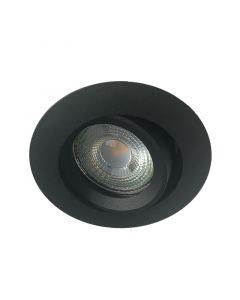 Inbouwspot LED - Inbouw armatuur Monti - Kantelbaar - Zand Zwart