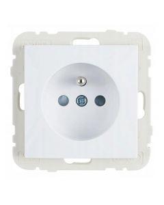 Wand contactdoos Lybardo inbouw 1-voudig Wit met randaarde pin BE