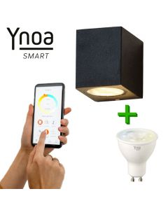 Ynoa Smart buitenset - 1 x Armatuur Nice + GU10 spot CCT