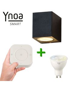 Ynoa Smart buitenset - 1 x Armatuur Nice + GU10 spot CCT + 5-knops afstandsbediening