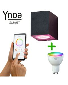 Ynoa Smart buitenset - 1 x armatuur Nice + GU10 spot RGBW