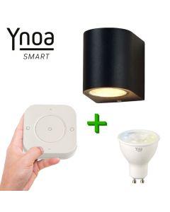 Ynoa Smart buitenset - 1 x Armatuur Valence + GU10 spot CCT +  5-knops afstandsbediening
