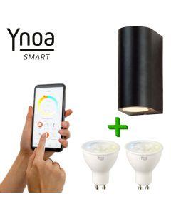 Ynoa Smart buitenset - 1 x Armatuur St. Tropez + 2 x GU10 spot CCT