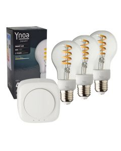 Ynoa Smart starterpack - Hub + 3 x E27 lamp filament CCT