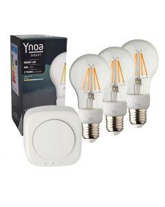 Ynoa Smart starterpack - Hub + 3 x E27 lamp filament dimbaar