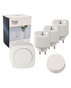 Ynoa Smart starterpack - Hub + 3 x slimme stekker + 1-knops afstandsbediening