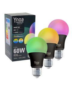 Ynoa Smart uitbreidingset - 3 x E27 lamp RGBW zwart