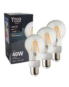 Ynoa Smart uitbreidingset - 3 x E27 lamp filament dimbaar