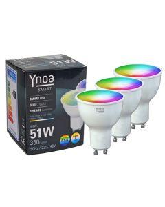 Ynoa Smart uitbreidingset - 3 x GU10 spot RGBW