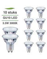 10 Pack Philips CorePro LED GU10 3.5W 3000K Warm Wit