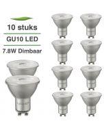 10 Pack LED GU10 Lybardo ITEC dimbaar 8W 540 lm 3000K Warm Wit