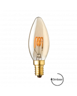 E14 LED kaars lamp spiraal Lybardo Gold 2.8W 2000K Extra Warm Dimbaar
