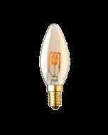 E14 LED kaars lamp spiraal Lybardo Gold 1.2W 2000K Extra Warm 50 lm