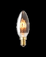 E14 LED kaars lamp spiraal Lybardo Smoke 1.5W 2100K Extra Warm 40 lm
