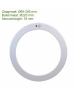 LED in- en opbouw downlighter met bewegings- en lichtsensor + CCT Ø 220 mm
