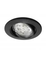 Inbouwspot LED - Inbouw armatuur Lucca - Kantelbaar - Rond zwart