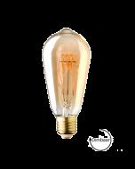 E27 LED lamp Vintage Edison spiraal Lybardo Gold 4W 2000K Extra Warm Dimbaar