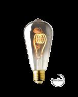 E27 LED lamp Vintage Edison spiraal Lybardo Smoke 3.6W 2100K Extra Warm Dimbaar