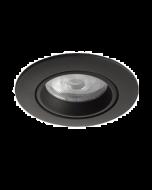 Inbouwspot LED - Inbouw armatuur Costa - Kantelbaar - Rond zand zwart